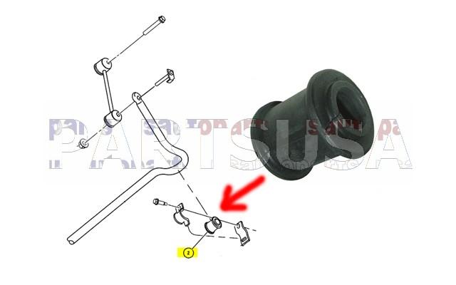 ZGPTRR.13,,Tuleja dr��ka stabilizatora tylnego