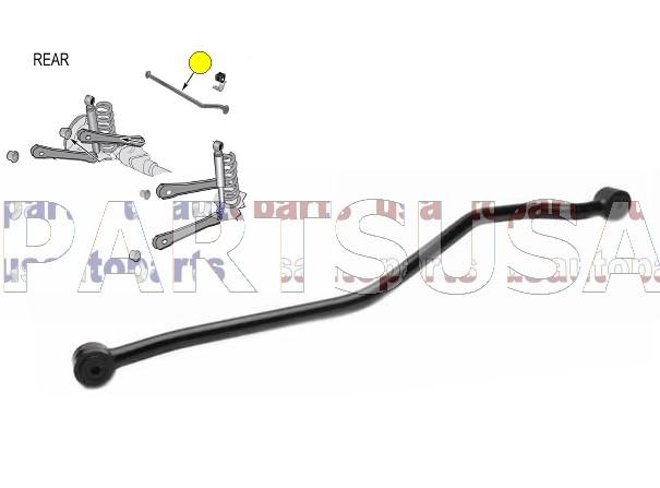 Drążek tylnego mostu (track bar) DS1327