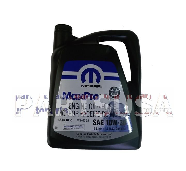 Olej silnikowy 10W30 / 10W-30 MOPAR 5L.
