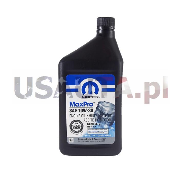 Olej silnikowy 10W30 / 10W-30 MOPAR 0,946 L